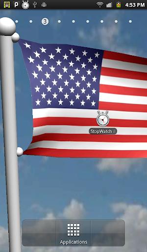 American Flag 3D LWP