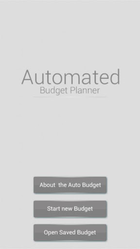 Automated Budget Planner