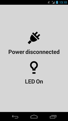Power Connected LED Off