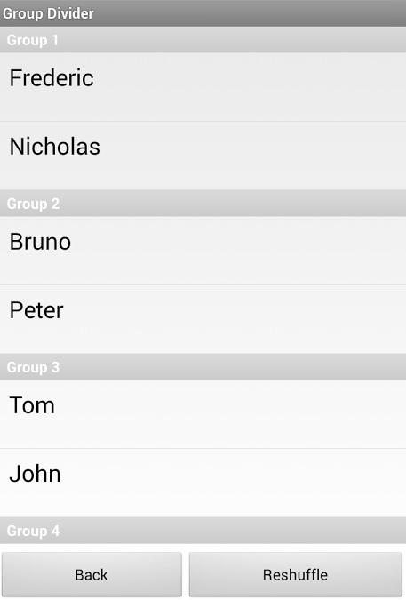 Group Divider - screenshot