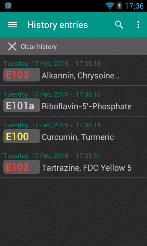 Food Additives- screenshot