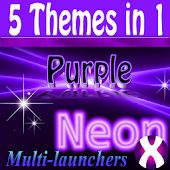 Purple Neon Complete 5 themes
