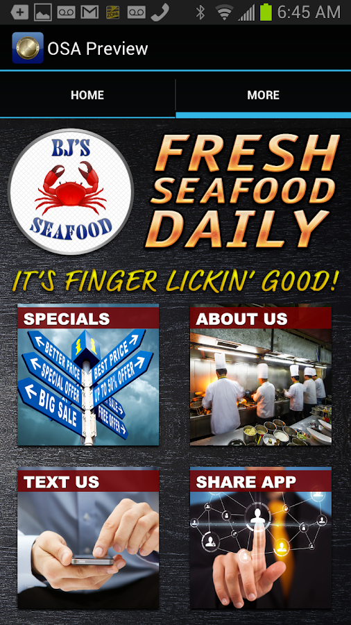 BJs Seafood - screenshot