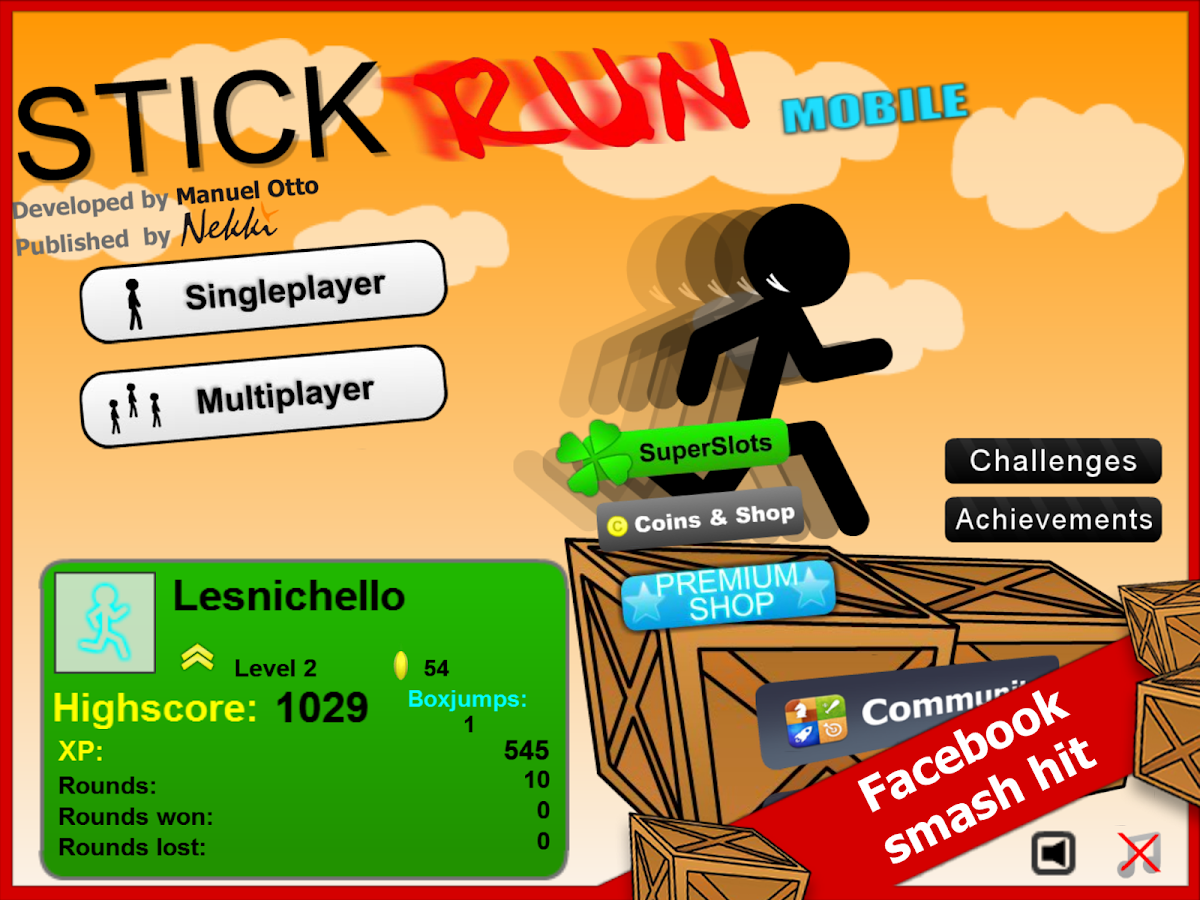 Stick Run Mobile - screenshot