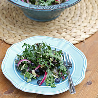 Kale & Blueberry Salad with a Lime & Ginger Vinaigrette