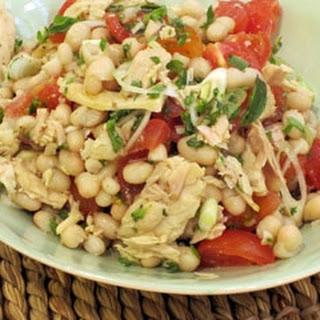 Haricot Bean Salad with Tomatoes and Tuna Recipe