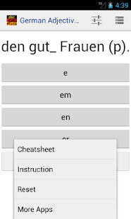 German Adjective Declension: miniatura de captura de pantalla