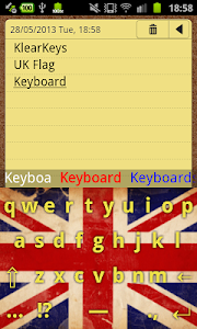 KlearKeys UK Flag Keyboard screenshot 5