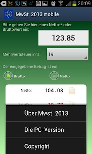 MwSt. 2013 mobile- screenshot thumbnail