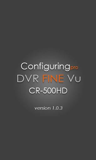 설정 DVR FineVu CR-500HD