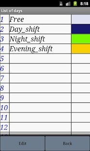 My Shift Calendar - screenshot thumbnail