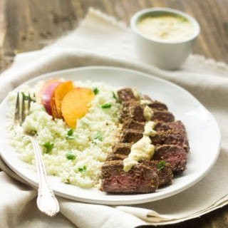 Mango Curry Steak with Coconut Cauliflower Rice