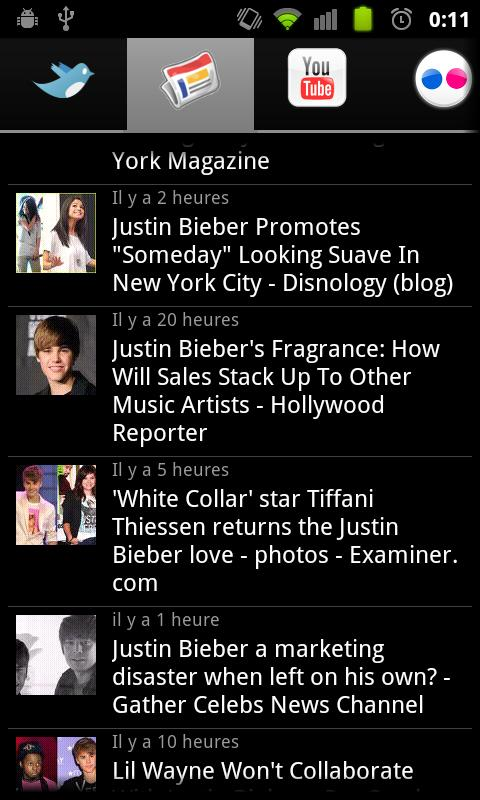 Justin Bieber Be Fan - screenshot