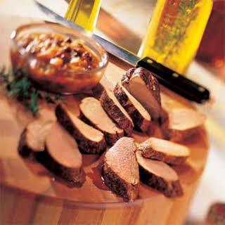 Pork Tenderloin with Rum Chutney.