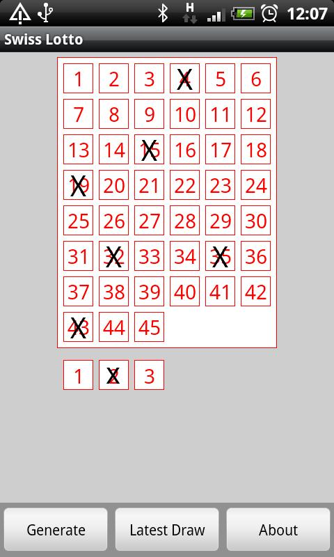 Swiss Lotto- screenshot