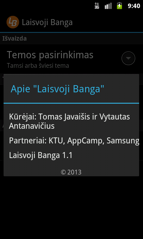 Laisvoji Banga- screenshot