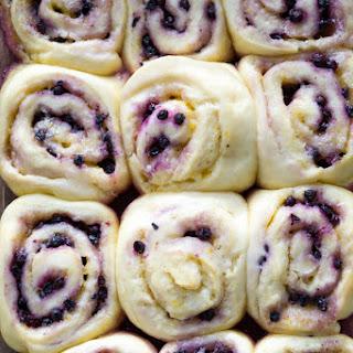 Lemon Blueberry Sweet Rolls.