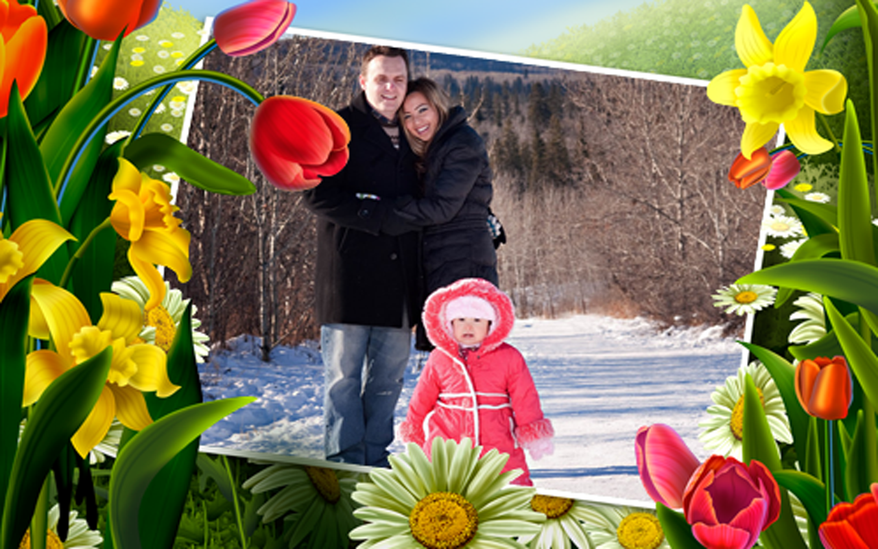 Flowers photo frames apps para android no google play for Pictureframes net