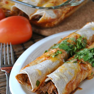 Lighter Beef Enchiladas.
