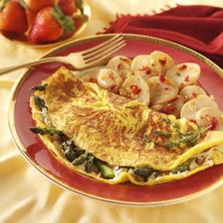 Eggstra Special Asparagus Omelets.