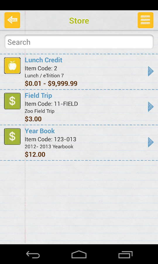 EZSchoolPay - screenshot