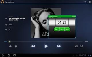 Screenshot of Popup Stopwatch