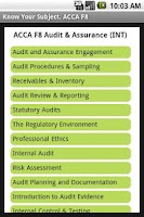 Screenshot of ACCA F8 Audit & Assurance INT