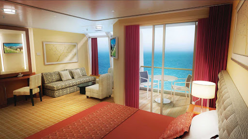 Norwegian-Star-stateroom-Penthouse-balcony - Norwegian Star's Penthouse Suite with Balcony offers more than enough comfort and luxury for a family of four.