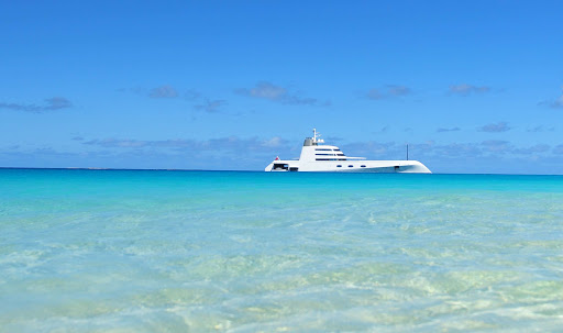 ultramodern-yacht-in-Anguilla - An ultramodern yacht on the coast of Anguilla.