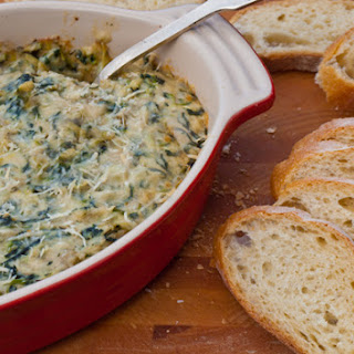 Baked Spinach and Artichoke Dip.