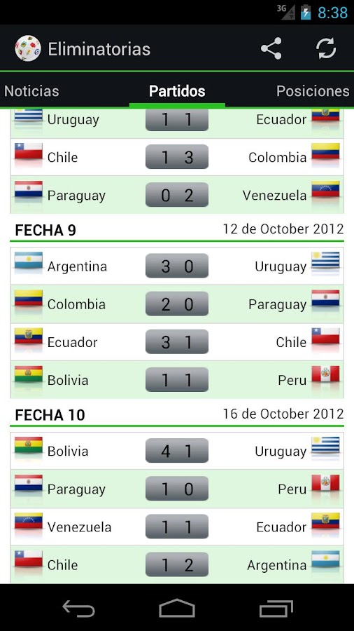 Qualifiers Brazil 2014 - screenshot