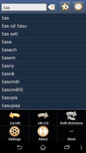 Czech Croatian dictionary