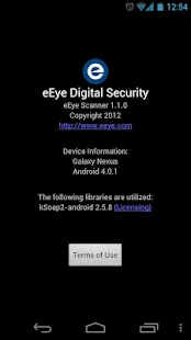 eEye Android Scanner - screenshot thumbnail