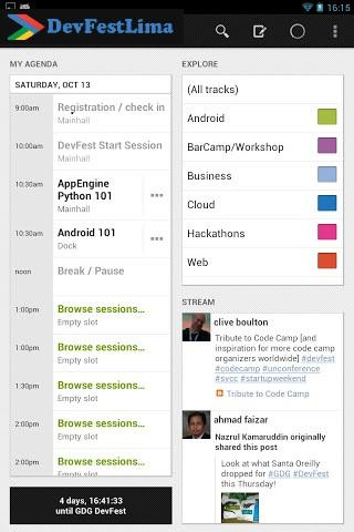 DevFest Lima 2012 - screenshot