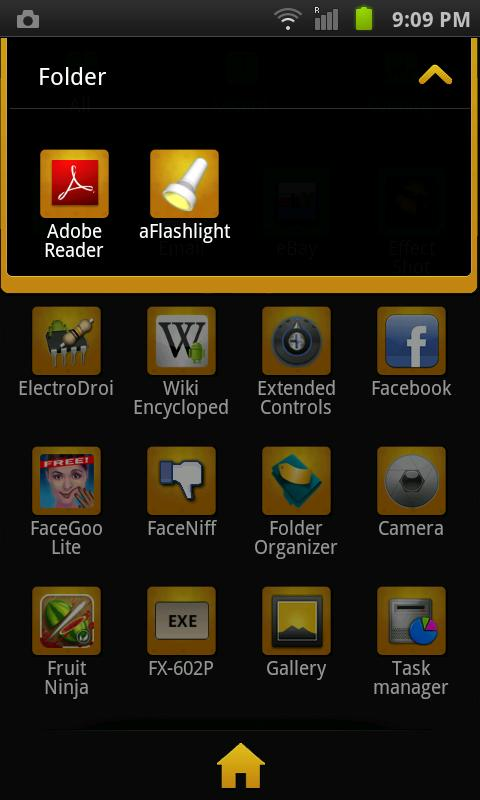 GO Launcher EX Theme BlackGold - screenshot
