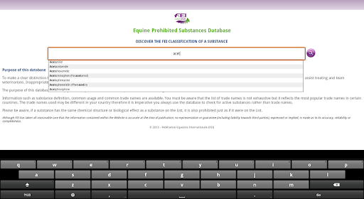 FEI CleanSport Database 3.1 screenshots 2