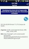 Screenshot of UC3M Agenda
