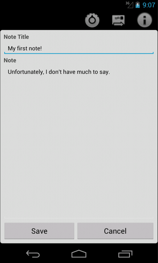 Clear Note Widget Sticky Notes- screenshot