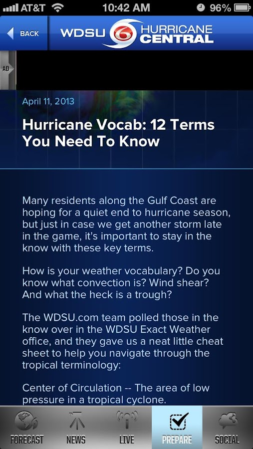 WDSU Hurricane Central - screenshot