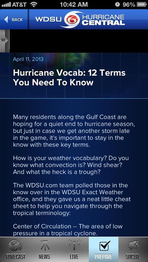 WDSU Hurricane Central - screenshot