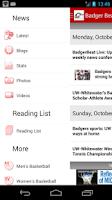 Screenshot of Badger Beat by madison.com
