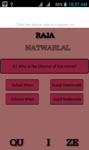 raja -natwar -movie quize