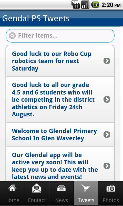 Glendal Primary School- screenshot