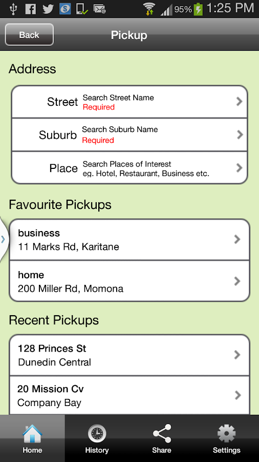Dunedin Taxis- screenshot