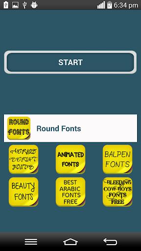 Round Fonts