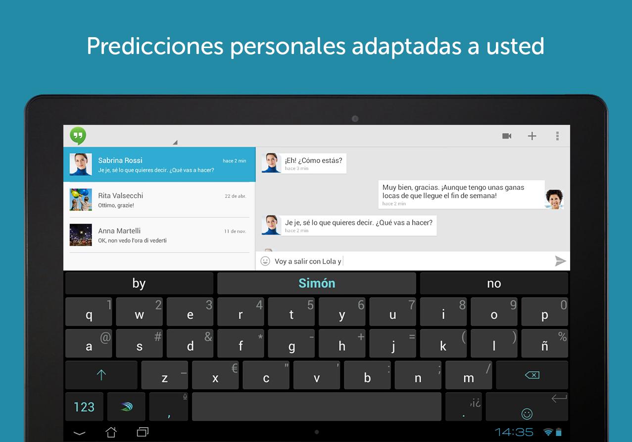 SwiftKey + Emoji , un teclado Android estupendo
