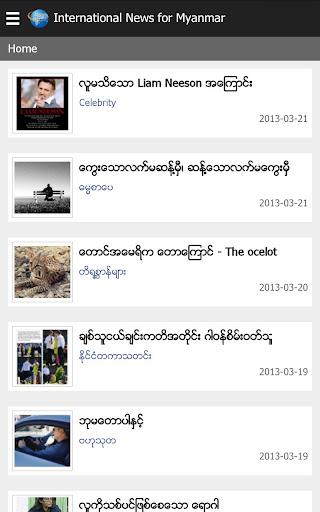 International News for Myanmar