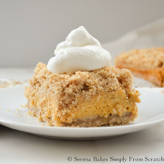 Pumpkin Cheesecake Crumb Bars.