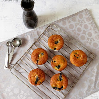 Eggless Blueberry Muffins.