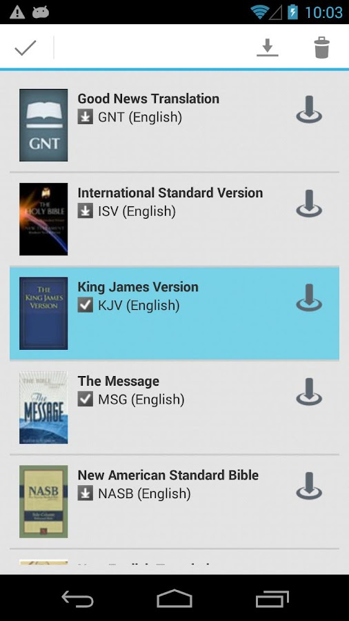 Live Bible - screenshot